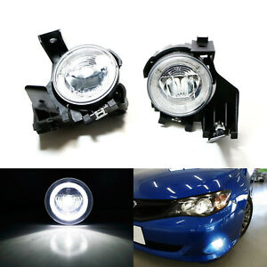 20w Cree Led Halo Ring Daytime Running Fog Lights For 2008 11 Subaru Impreza Wrx