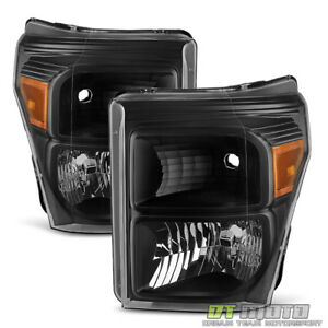 Blk 2011 2016 Ford F250 F350 F450 Super Duty Headlights Signal Lamps Left right