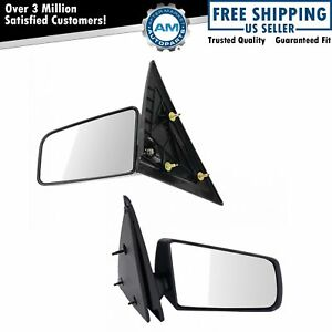 Manual Side Mirrors Lh Left Right Rh Pair Set For Gmc Chevy Pickup Truck