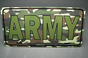 Us Army Metal Aluminum Novelty Car License Plate Tag Camouflage Colors Us Army