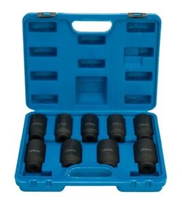 9pc Pro Axle Nut Impact Socket Set Heavy Duty Removal Tool 1 2 Drive