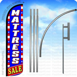 Mattress Sale Windless Swooper Flag 15 Kit Feather Banner Sign Stars Bz