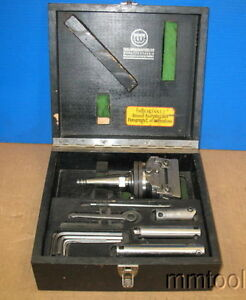 Wohlhaupter Upa 3 Boring Facing Head Acc Case W moore Jig Borer Shank