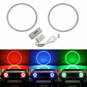 Rgb Multi color Led Angel Eyes Halo Rings For 2007 up Toyota Fj Cruiser Headlamp