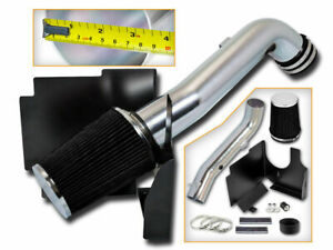 Bcp Blk 01 04 Sierra silverado 6 6l V8 Turbo Cold Air Intake Induction filter