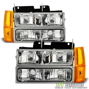 1994 1998 Gmc Sierra C k Pickup Suburban Yukon Headlights bumper corne Lights