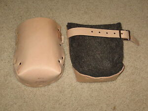 Leather Kneepads With Double Felt Lining Concrete Accessory Made In The Usa