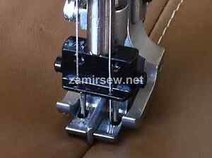 Double Needle Walking Foot W spring Loaded Center Guide 1 4 Or 3 8