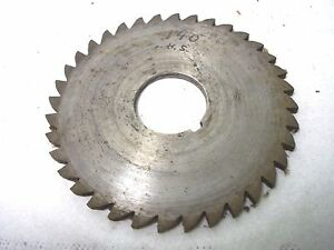 Used Milling Cutter 3 1 2 X 9 64 140 X 1 Saw Slotting
