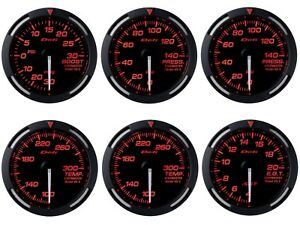 Defi Red Racer 52mm 6 Gauges Set boost oil fuel Press oil water Temp egt