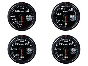 Defi White Racer 60mm 4 Gauges Set boost oil Press oil Temp water Temp