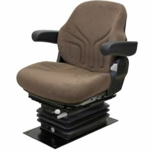 Seat Assembly Air Suspension W armrests Grammer Style Fabric Brown Jd 30 55