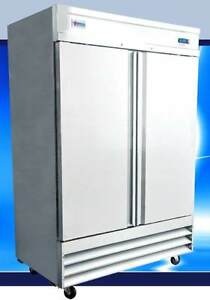 Omcan Fr cn 1372 41cf 2 door 54 Stainless Steel Commercial Reach in Freezer New