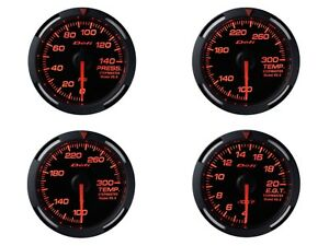 Defi Red Racer 60mm 4 Gauges Set fuel Press oil Temp water Temp egt