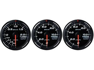 Defi White Racer 52mm 3 Gauges Set turbo Boost oil Pressure fuel Pressure