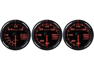 Defi Red Racer 60mm 3 Gauges Set turbo Boost oil Temperature water Temp