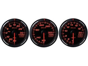 Defi Red Racer 60mm 3 Gauges Set turbo Boost oil Temperature egt