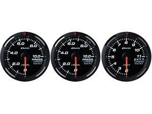 Defi White Racer 52mm 3 Gauges Set oil Pressure fuel Pressure exhaust Gas Temp