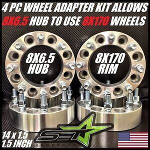 8 X 6 5 To 8 X 170 Wheel Adapters Spacers Put Ford Wheels On Chevy 1 5 Inch