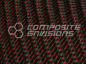Red Reflections Carbon Fiber Cloth Fabric 2x2 Twill 50 3k 5 9oz