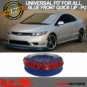 Fit Honda Front Bumper Lip Pu Splitter Quick Lip Chin Ez Install 100 Inch Blue