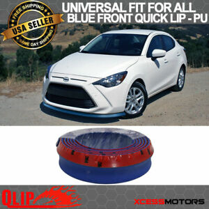 Fit Scion Front Bumper Lip Pu Splitter Quick Lip Chin Ez Install 100 Inch Blue