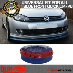 Fit Vw Front Bumper Lip Pu Splitter Quick Lip Chin Ez Install 100 Inch Blue