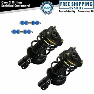Front Strut Shock Spring Assemblies And 2 Sway Bar Links Kit For Buick Chevy