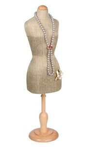 Jewelry Display Stand Mannequin Miniature Body Form Burlap Jewelry Stand 22 5 16