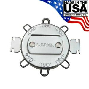 Lang 6 Wire Gap Spark Plug Gauge Made In Usa For Standard Ignition Systems