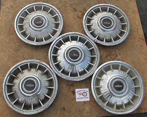 1964 Oldsmobile Cutlass F85 Fin Type 14 Wheel Covers Hubcaps Lot Of 5 Look