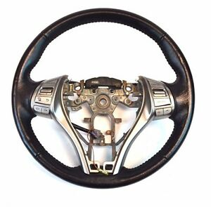Genuine Oem Nissan Altima Black Leather Steering Wheel With Buttons 8915 48430