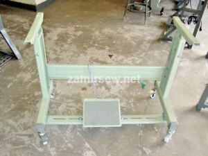 Industrial Sewing Machine T Leg Stand With Casters New Juki Consew Pfaff