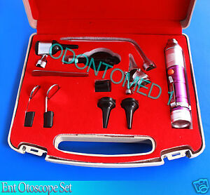 Otoscope Ophthalmoscope Purple 11 Piece Ent Medical Diagnostic Set Nt 922