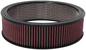 K N Air Filter Element Cleaner Washable Element 14 X 4 Element Reusable E3750