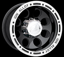 Cpp Ion Alloys Style 174 Wheels Rims 17x9 6x135mm Black With Beadlock Look