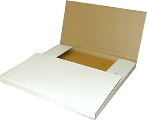 25 50 Or 100 White 12 Record Perforated Cardboard Multi depth Mailer Free Ship