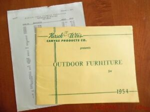 1954 Hirsch Weis Outdoor Furniture Catalog Brochure White Stag Atomic Age Patio