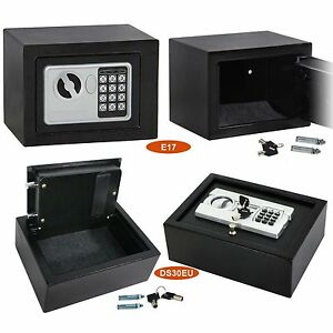 Digital Electronic Safe Security Box Wall Jewelry Gun Cash Black 3 Model