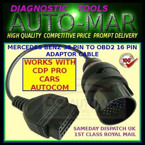 Mercedes Benz 38 Pin Diagnostic Cable For Autocom Delphi Opus Eclipse