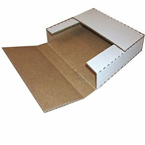 25 Lp Record Perforated Cardboard Multi depth Box Mailers 12 5 Inch By 12 5 Inch