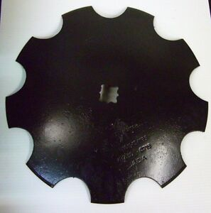 16 Notched Disc Harrow Blades Scalloped Heavy Duty 1 Or 1 1 8 Sq lot Of 2