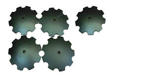 Notched Disc 16 Set Of 5 1 Or 1 1 8 Square Shaft Harrow Bearing Cutting Blade