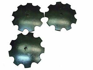 Notched Disc 3 18 1 Or 1 1 8 Square Shaft Harrow Bearing Cutting Blade