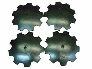 18 Notched Disc Harrow Blades Scalloped Heavy Duty 1 Or 1 1 8 Sq lot Of 4