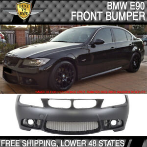 Fit 06 08 Bmw E90 E91 3 Series Sedan M3 Style Pp Front Bumper Cover Fog Cover Pp