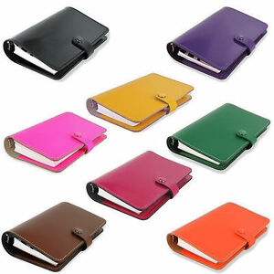 Filofax the Original Thick Leather 6 Ring Handmade Personal Organiser Diary
