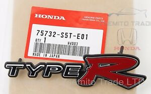 Honda Civic Ep3 Si Front Type R Emblem Jdm Genuine Oem 75732 s5t e01 Badge 01 03