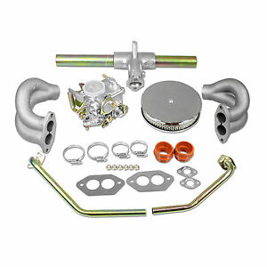 Vw 34 Pict 3 Carb Kit With Tin Air Filter Type 1 And 2 Volkswagen Bug Bus Ghia