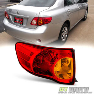 For 2009 2010 Toyota Corolla Tail Light Brake Lamp Outer Left Driver Side 09 10